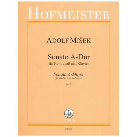 Misek, A.: Kontrabasssonate Op. 5 A-Dur