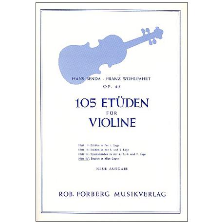 Benda, H./Wohlfahrt F.: 105 Etüden Op. 45 Band 4