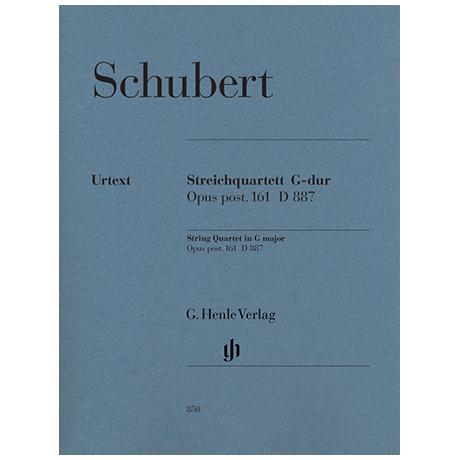 Schubert, F.: Streichquartett G-Dur Op.posth.161 D887