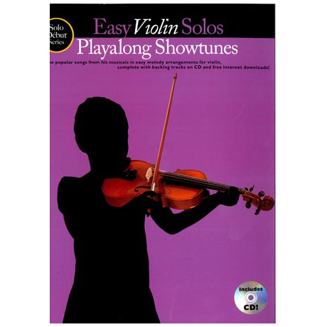 Solo Debut: Playalong Showtunes – Easy Violin Solos (+CD)