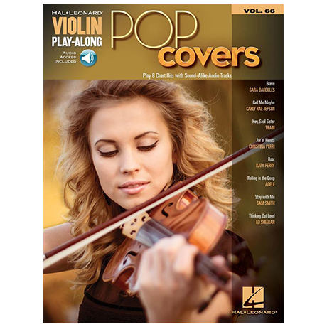 Pop Covers – Violin Play Along 66 (+Online Audio)