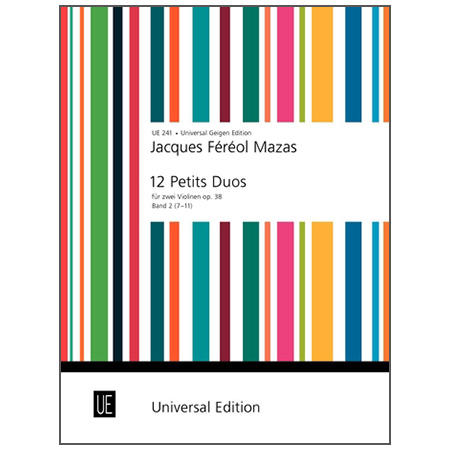 Mazas, J. F.: 12 kleine Duette (7-11) Op. 38