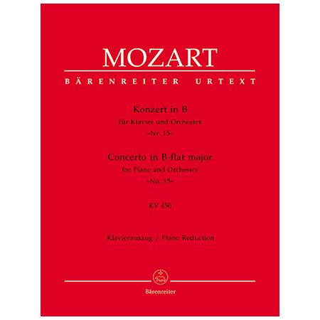 Mozart, W. A.: Klavierkonzert Nr. 15 KV 450 B-Dur