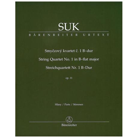 Suk, J.: Streichquartett Nr. 1 B-Dur Op. 11