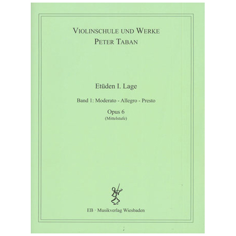 Taban, P.: Op. 6: Etüden I. Lage Band 1