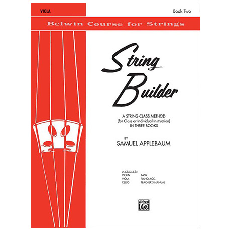 Applebaum, S.: String Builder Book Two – Viola