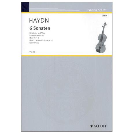 Haydn, J.: 6 Violasonaten Hob. VI: 1-3
