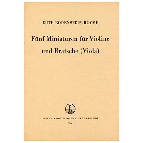 Bodenstein-Hoyme, R.: Fünf Miniaturen