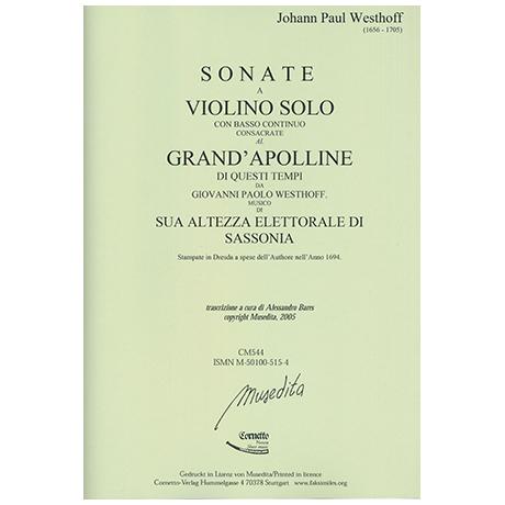Westhoff, J. P.: 6 Violinsonaten