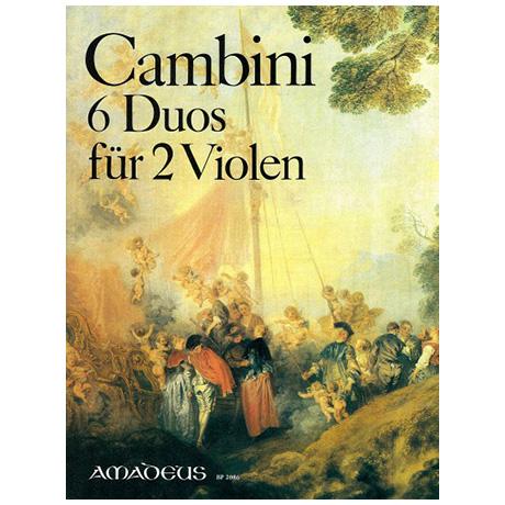 Cambini, G.: 6 konzertante Duos für 2 Violen