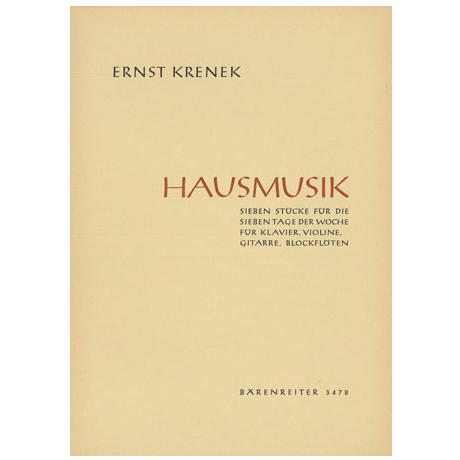 Krenek, E.: Hausmusik - 7 Stücke für die 7 Tage der Woche