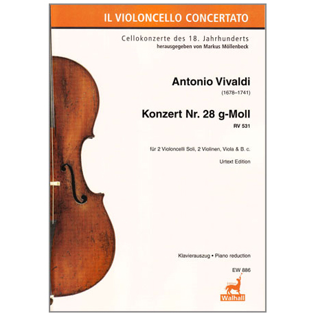Vivaldi, A.: Konzert für 2 Celli und Orchester RV 531, PV 411, F. III: 2 g-Moll