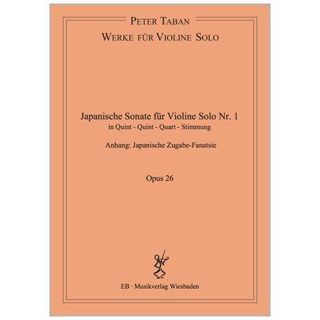Taban, P.: Japanische Sonate Nr. 1 Op. 26