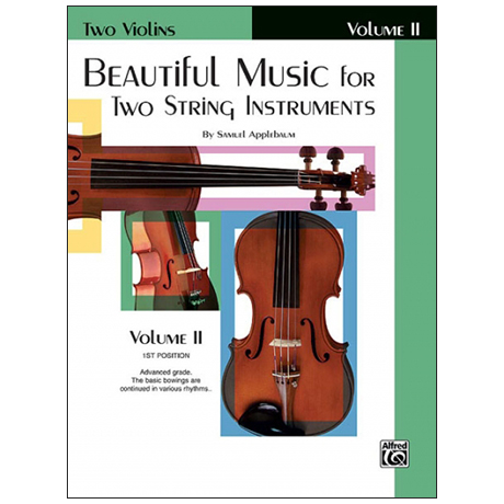 Applebaum, S.: Beautiful Music for two String Instruments Vol. 2 – Violin