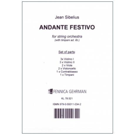 Sibelius, J.: Andante Festivo (1922) – Stimmen