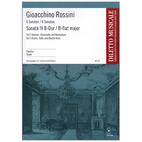 Rossini, G. A.: Sonata Nr. 4 B-Dur – Partitur