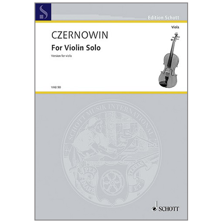 Czernowin, C.: For Violin solo