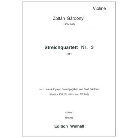 Gárdonyi, Z.: Streichquartett Nr. 3 (1954)