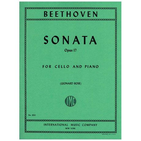 Beethoven, L.v.: Violoncellosonate Op. 17 F-Dur