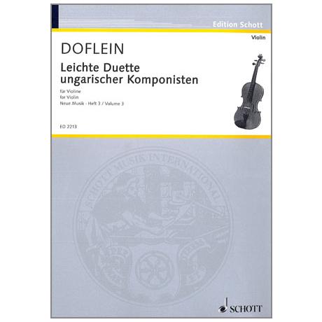 Doflein, E.: Ungarische Komponisten: Leichte Duette (Seiber, Bartók, Kardosa)