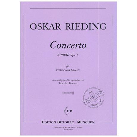 Rieding, O.: Violinkonzert Op. 7 e-Moll (+CD)