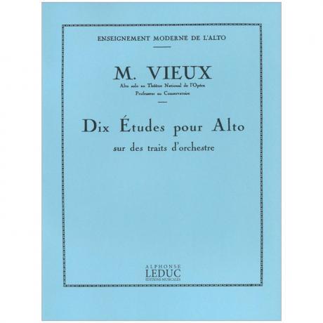 Vieux, M.: 10 Études pour Alto sur des traits d'orchestre