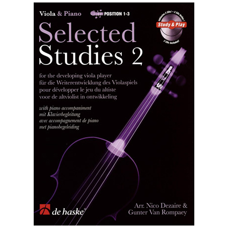 Selected Studies for Viola Band 2 (+2 CDs)
