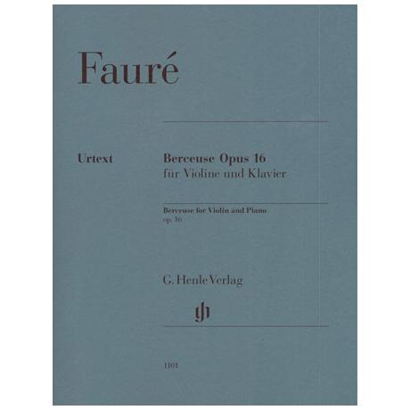 Fauré, G.: Berceuse Op. 16