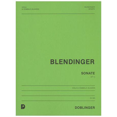 Blendinger, H.: Violasonate Op. 13
