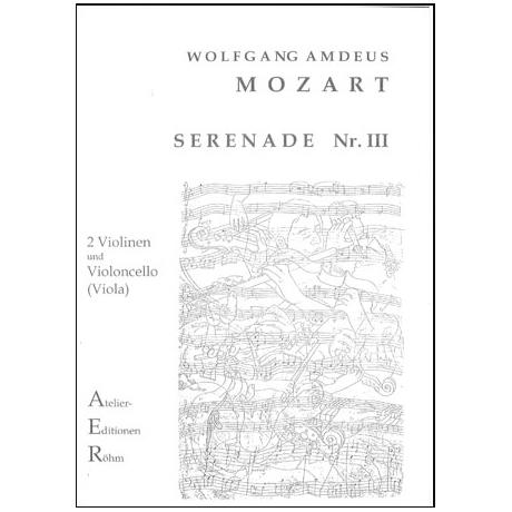 Mozart, W.A.: Serenade III
