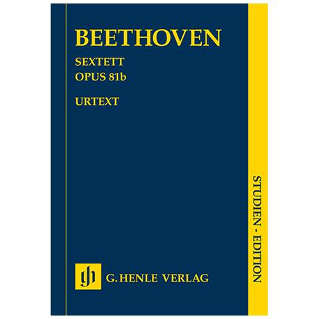 Beethoven, L. v.: Sextett Op. 81b Es-Dur – Partitur