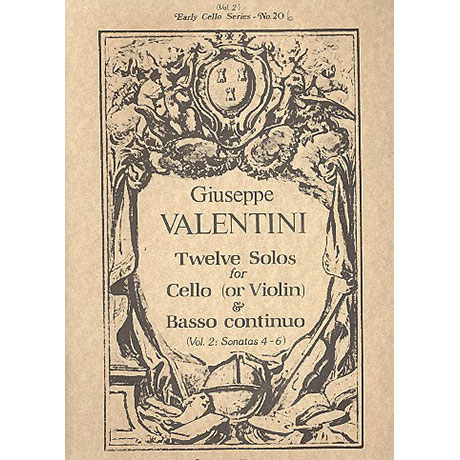 Valentini, G.: 12 Solos Band 2 (Nr.4-6)