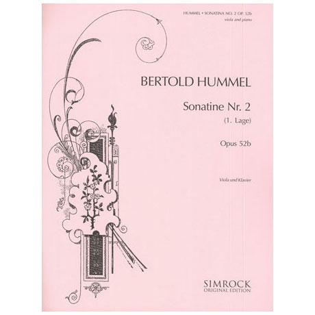 Hummel, B.: Violasonatine Op. 52b/2