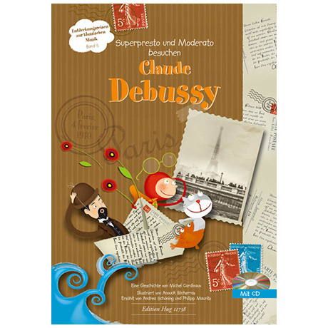 Cardinaux, M.: Superpresto und Moderato besuchen Claude Debussy (+CD)