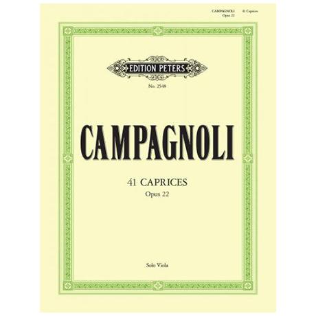 Campagnoli, B.: 41 Capricen Op. 22