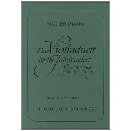 Bormann, P.: Das Violinduett im 18. Jahrhundert Band 3