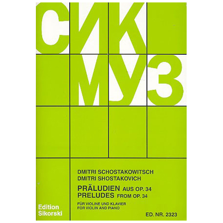 Schostakowitsch, D.: 19 Preludes from op. 34