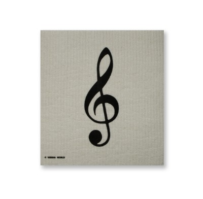 Sponge cloth treble clef