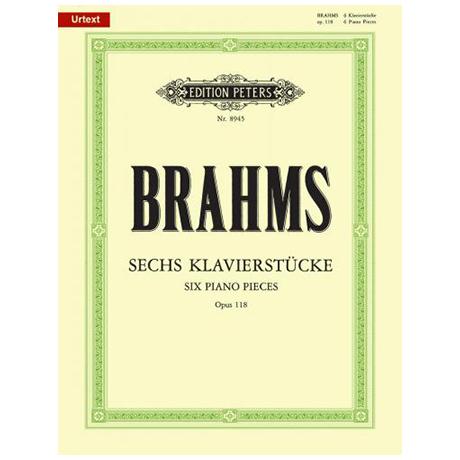 Brahms, J.: 6 Klavierstücke Op. 118