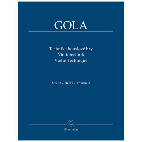 Gola, Z.: Violintechnik Band 2