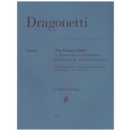 Dragonetti, D.: The Famous Solo