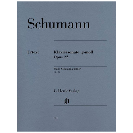 Schumann, R.: Klaviersonate g-Moll Op. 22