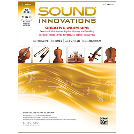 Sound Innovations for String Orchestra: Creative Warm-Ups - Violoncello / Kontrabass (+Online Video und Audio)
