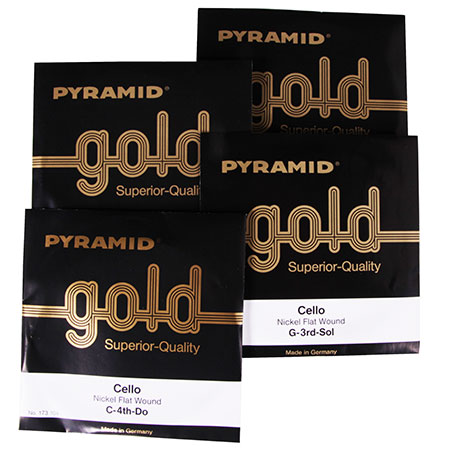 PYRAMID Gold cello strings SET