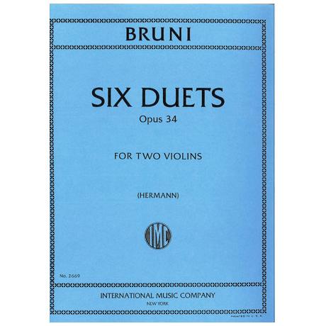 Bruni, A. B.: 6 einfache Duette Op. 34