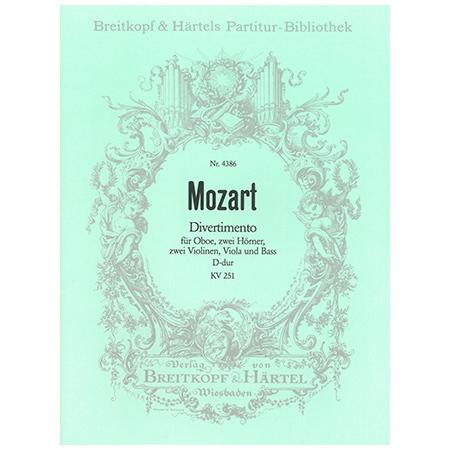 Mozart, W. A.: Divertimento D-Dur KV 251