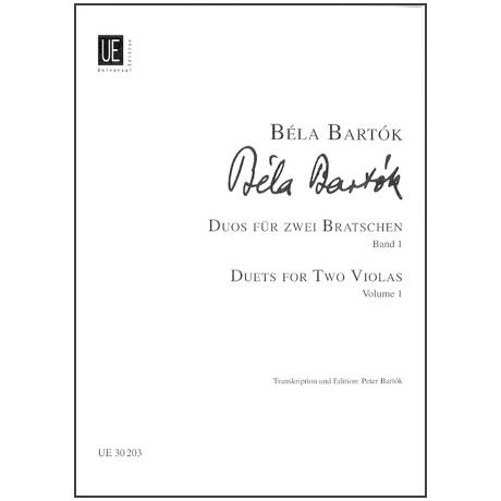 Bartók, B.: 44 Duos für 2 Violen Bd. 1