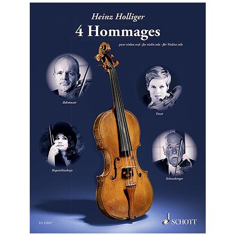 Holliger, H.: 4 Hommages (2009-2014)