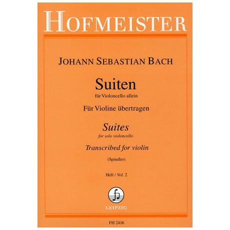 Bach, J. S.: Cello-Suiten für Violine Heft 2