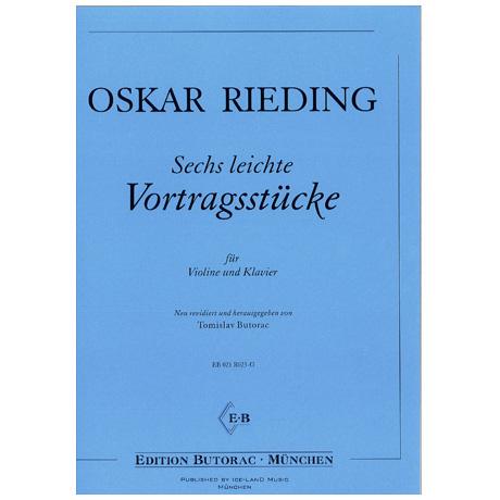 Rieding, O.: 6 leichte Vortragsstücke